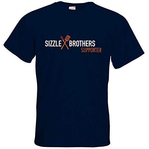 getshirts - SizzleBrothers Merchandise Shop - T-Shirt - SizzleBrothers - Grillen - Supporter Navy