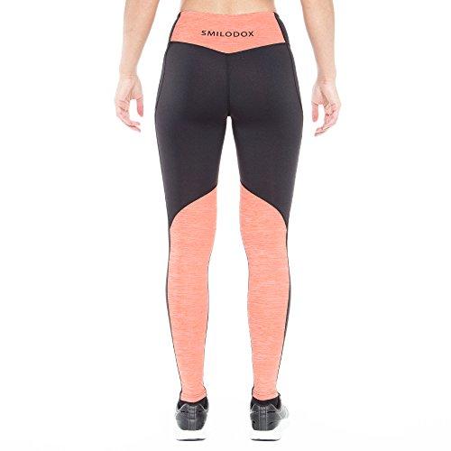 Smilodox Damen Leggings Nonstop, Farbe:Schwarz/Orange, Größe:XS - 3