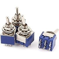 Sourcingmap® AC 6A 125V 2 Position 6Pins DPDT ON-OFF Micro Mini Interruptor de Tocado 4 Pcs