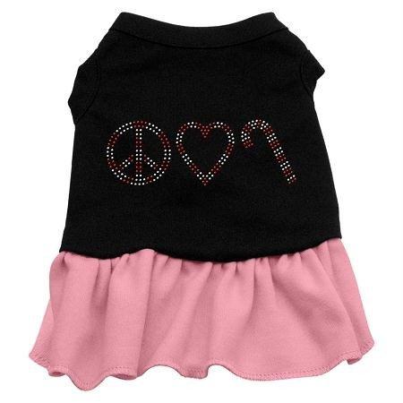 Mirage Peace Love Candy Cane Strass Kleid für Hund
