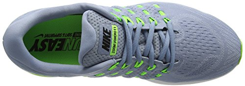 Nike Air Zoom Vomero, Running Homme Noir (Blue Grey/Black Pure Platinium Electric Green)