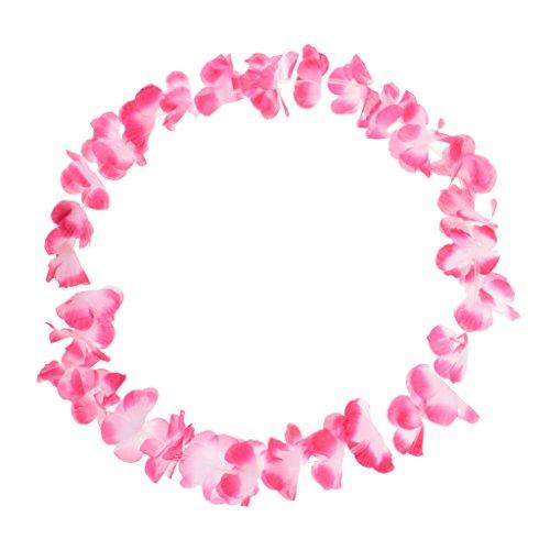 perfeclan Bunte Hawaiikette für Hula Girl Cosplay, aus Stoff - Rosa
