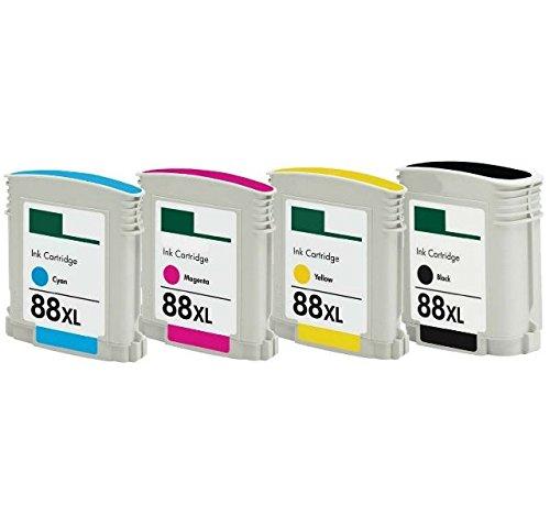 4X Cartuchos Tinta Compatible HP 88 XL / C9396AE 69ml