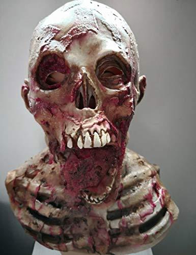 Sie Kostüm Machen Eigene Ihre Zombie - STTA Horror Halloween Maske, Walking Dead Full Head Resident Evil Monster Zombie, Zombie Kostümparty Naturlatex Maske für Halloween