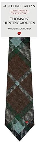 I Luv Ltd Garçon Tout Cravate en Laine Tissé et Fabriqué en Ecosse à Thomson Hunting Modern Tartan