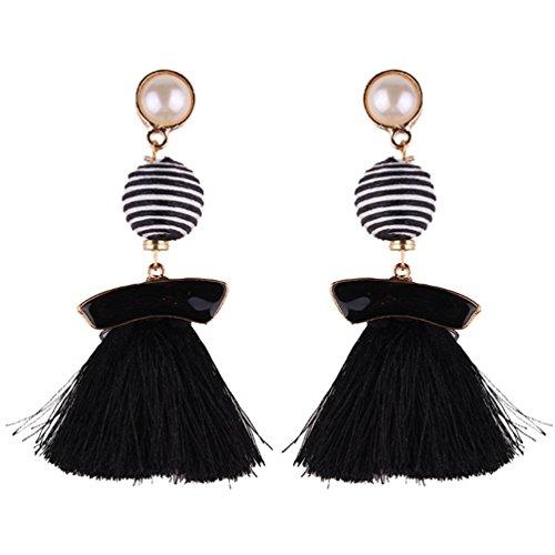 Wanyang orecchini di nappa lunga delle donne elegante retrò bohemian orecchini donna accessori di gioielli