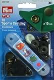 Prym 15mm antik Messing Sport und Camping Nähfrei, Verbindungselemente 10Stück