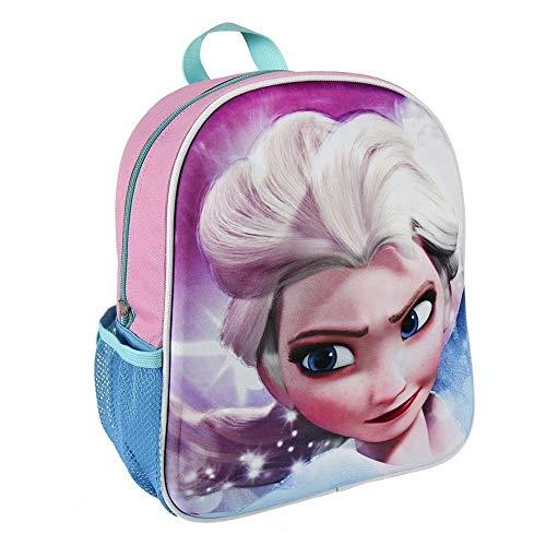 TrAdE shop Traesio- Rucksack Frozen ELSA Disney Backform Relief 3D Kindergarten Schule Mädchen Freizeit