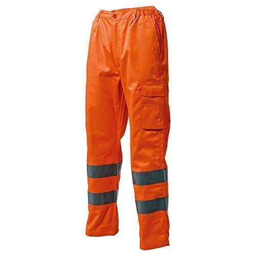LOGICA 830HVT Pantalone Alta visibilità Arancio Tasche PORTAOGGETTI PORTAMETRO Bande RIFRANGENTI CLASSE2 Emergenza Auto Antinfortunistica DPI Abbigliamento Lavoro Cantiere Stradale (50)
