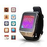 Flylink® M9 Smart Watch Bluetooth Smart-Kamera-Uhr-Armbanduhr mit Metall M9 HD-Kamera und Headset für Android-Handys (Silber)