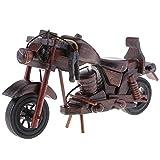 Fenteer Handgemachte Holz Motorrad Modell Modellbau Handwerk Desktop Ornament