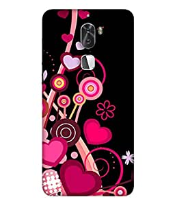 PrintVisa Designer Back Case Cover for Coolpad Cool 1 (The Hearts And The Flowers Beautiful Design)