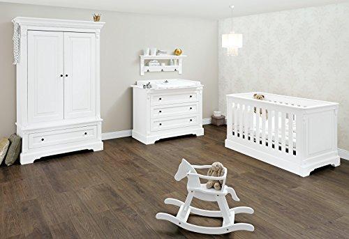 Pinolino Emilia Nursery Set di mobili (Wide, (Biancheria Oak Bed)
