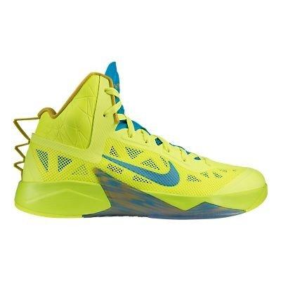 Nike Schuhe Herren Nike zoom hyperfuse 2013 Volt/vivid blue-bright citron, Größe Nike:12.5 (2013 Schuhe Männer)