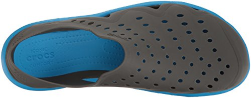 crocs Herren Brogue Swiftwater Wave Grau (Graphit / Ocean)