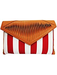Ek Pahechan Girls Casual Sling Bags Online Red And White Clutch For Women's