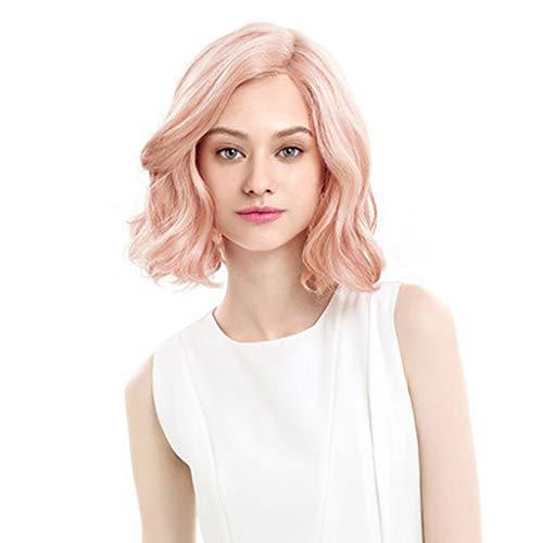 Perücke, weibliche kurze Haare kurzes lockiges Haar süße niedliche Birne Kopf große Welle Kopfschmuck zu kaufen, erhalten Sie drei Geschenke (Farbe : ()