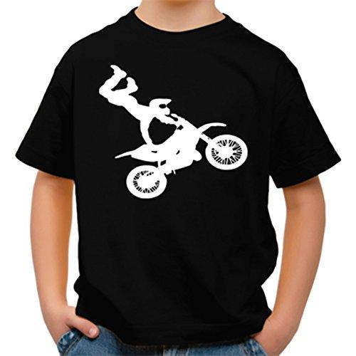 J.Roxx Motocross Freestyle Fun Kinder T-Shirt, Größe:134/140;Farbe:schwarz