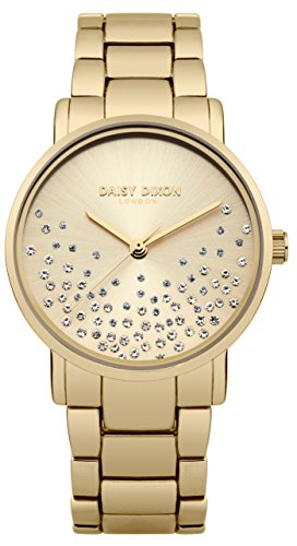 Daisy Dixon Damen Datum klassisch Quarz Uhr mit Edelstahl Armband DD053GM