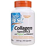 Doctors Best Collagen Dietary Supplement, Types 1 and 3, 240 Count