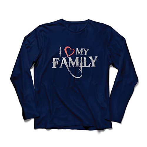 rts Einzigartige Designer Hemden Zeigen Ihre Liebe - fantastisches zusammenpassendes Kleid der Familie (Large Blau Mehrfarben) ()