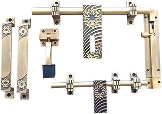 Kaizentech Brass Door Accessories Kit (Antique Finish) K-101