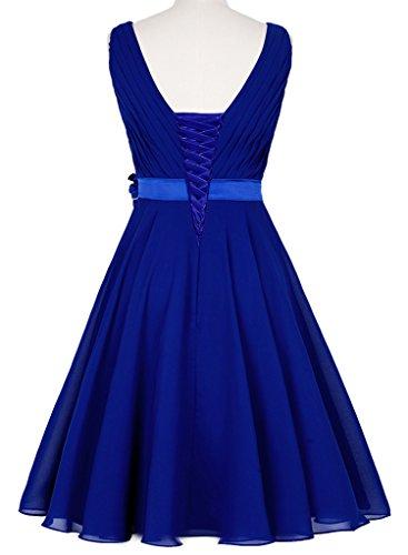 HUINI Damen Kleid Blau