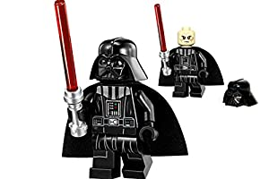 Darth Vader (deluxe version) LEGO Star Clone Wars Sith Lord Minifigure with lightsaber from set 75055 Imperial Star Destroyer
