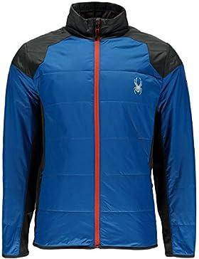 Spyder hombres de Glissade aislador de cremallera completa chaqueta, hombre, French Blue/Polar/Polar