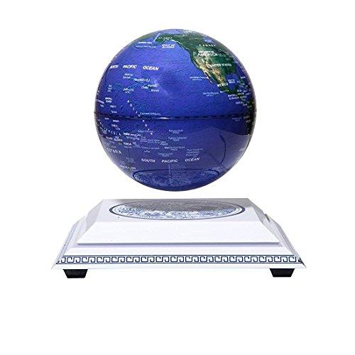 Woodlev Maglev levitación magnética Levitron flotante giratorio de luz de transmisión inalámbrica en sí 6 'Globo azul Chinoiserie plataforma de estilo chino de aprendizaje Educación Home Decor