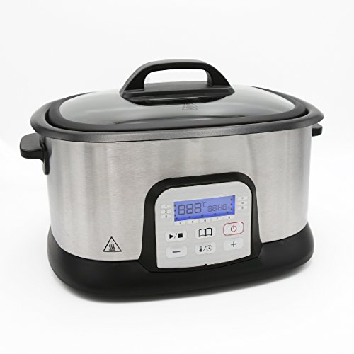 Sous Vide Garer von Unimat - Der Vakuum Garer mit 11 unterschiedlichen Programmen für Fleich, Fisch, Gemüse und Co