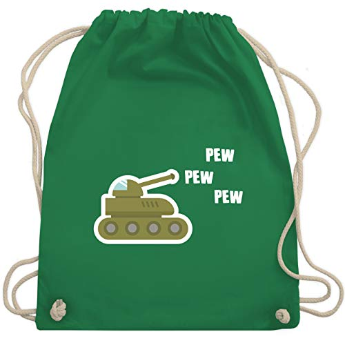 Andere Fahrzeuge - Pew Pew Panzer - Unisize - Grün - WM110 - Turnbeutel & Gym Bag