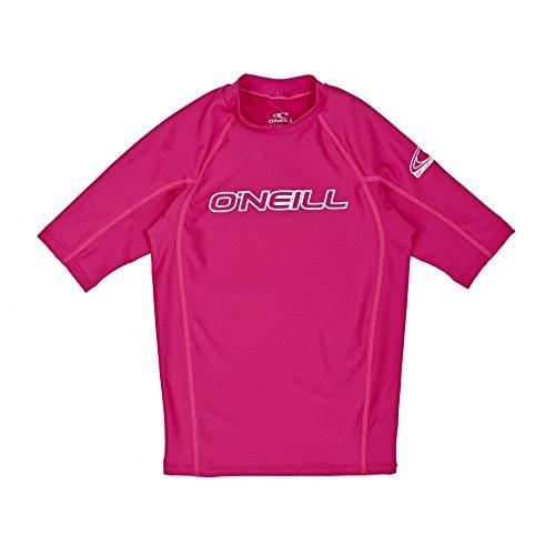 ONEILL WETSUITS O'Neill - Camiseta de Neopreno Juvenil con protección UV, Manga Corta, Cuello Redondo Rosa Rojo sandía Talla:6