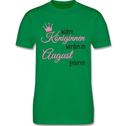 Geburtstag - Wahre Königinnen werden im August geboren - Herren Premium T-Shirt Grün
