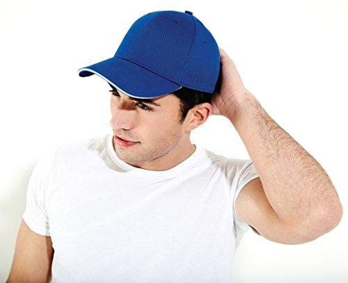 Beechfield - Casquette de Baseball - Homme taille unique orange/blanc