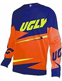 Uglyfrog Nuevo Manga larga Downhill Jersey De Descenso Bicicleta De Primavera&otoño Montañal Motocicletas Maillots Deportes y aire libre