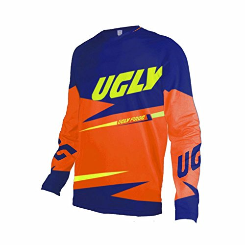 Uglyfrog Bike Wear Atmungsaktiv Trendy Herren Downhill/MTB Jersey Mountain Bike Shirt Fahrradtrikot Langarm Freeride BMX Frühling Top MF06