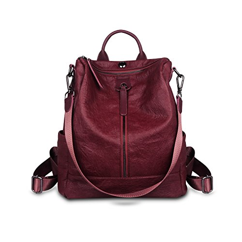 ZZSY , Damen Rucksackhandtasche Rot1