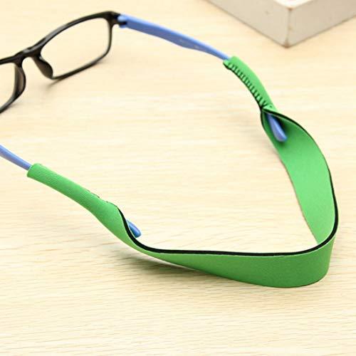 FUdeza Hochwertiges Brillenband mit Umhängeband für Sonnenbrillen und Ketten aus Neopren für Camping, Picknick und andere Outdoor-Aktivitäten - grün