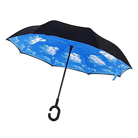 candora ™ Upside Down Envers parapluie pliant, coupe-vent extérieur double