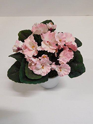 Usambaraveilchen Kunst- Seidenpflanze rosa