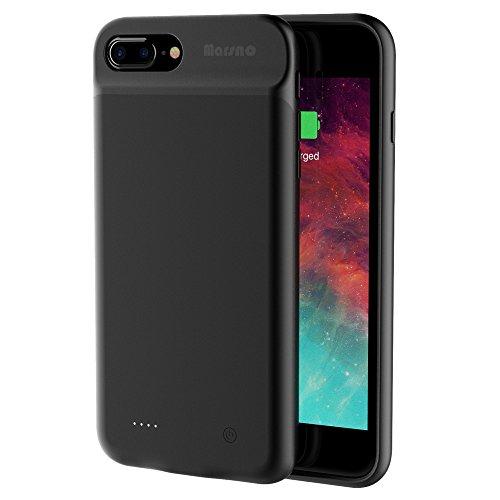 Marsno Funda Batería iphone 7 plus, Carcasa Con Batería Cargador-batería Externa Recargable 4000mAh Para iPhone 7 plus 5.5 inch(negro)