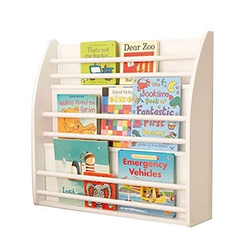 Dore Home Einfaches Wand-Bücherregal Für Kinder Schlafzimmer-Wandregal - 3 Schichten Kindergarten-Buchständer Wood White -
