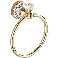Comparador de precios Bathine Chuck europea libre de la toalla de uñas soporte del anillo de toalla anillo puede ser un anillo de toalla anillo de toalla que cuelga el oro libre no perforada - precios baratos