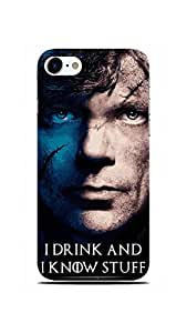 INKONN I Drink And I Know Stuff - Game Of Thrones Case Cover for iPhone 6 & iPhone 6s - ( Apple iPhone 6 ; Apple iPhone 6s )