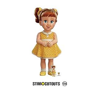 Star Cutouts SC1362 Muñeca Gabby de tamaño real 164 cm de alto con escritorio de cartón Standee amarillo Toy Story 4, multicolor