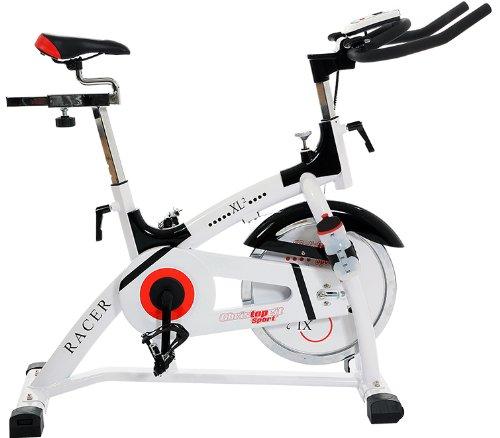 Christopeit Heimtrainer Racer Bike XL 2, weiß/schwarz, 135 x 50 x 115 cm, 1310