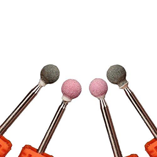 Schleifstift Kugel, Schleifwerkzeug 4Pcs/Set Bohrer Keramik Nägel Kugel Bits Für Maniküre Profi Bits Nagel Werkzeuge Polierstift Schleif Stift 4 verschiedene Größe