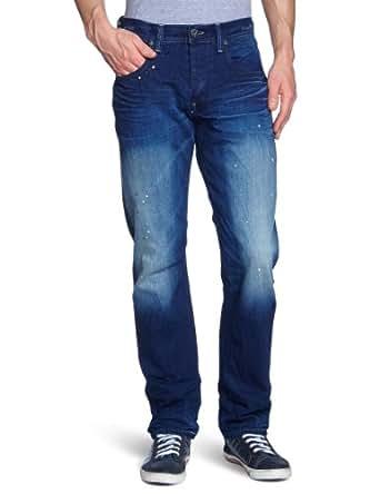 G-STAR Herren Straight Leg Jeanshose Attacc, Gr. W28 / L32, Blau (medium aged 4644-071)