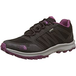 The North Face T92Y8VYYN. 7, Zapatillas Mujer, Multicolor (Tnf Black/Amaranth Purple), 40 EU
